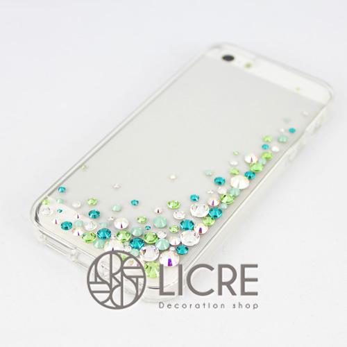 iphoneケースデコレーション - Eternity80 UR-Bubble005スワロフスキーデコ