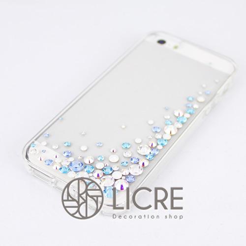 iphoneケースデコレーション - Eternity80 UR-Bubble006スワロフスキーデコ