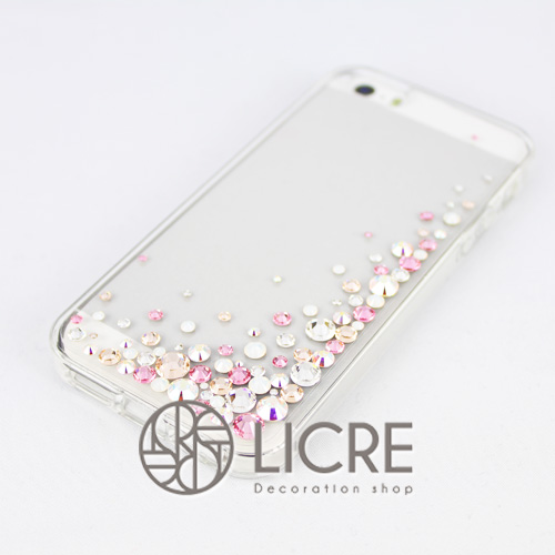 iphoneケースデコレーション - Eternity80 UR-Bubble007スワロフスキーデコ