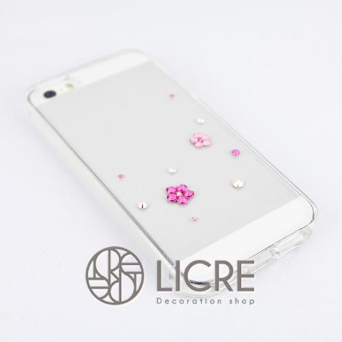 iphoneケースデコレーション - Happy20 U-Bubble002スワロフスキーデコ