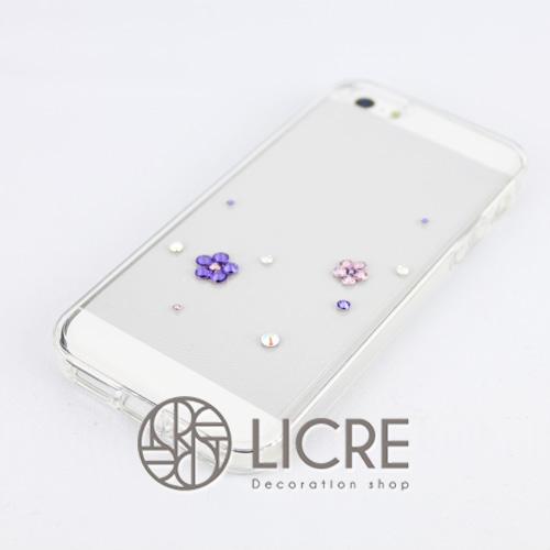 iphoneケースデコレーション - Happy20 U-Bubble004スワロフスキーデコ