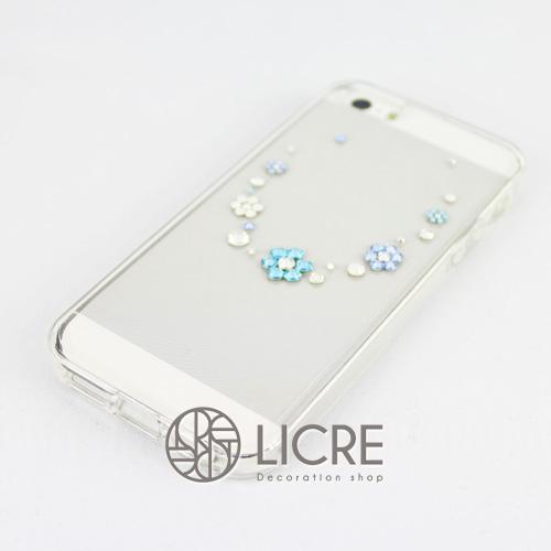 iphoneケースデコレーション - Happy50 T-Round006スワロフスキーデコ