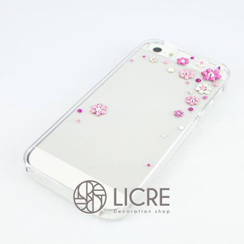 iphoneケースデコレーション - Happy80 TR-Bubble002スワロフスキーデコ