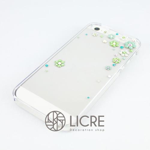 iphoneケースデコレーション - Happy80 TR-Bubble005スワロフスキーデコ