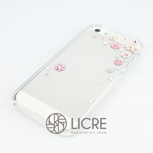 iphoneケースデコレーション - Happy80 TR-Bubble007スワロフスキーデコ