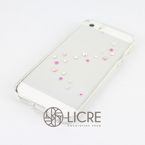 iphoneケースデコレーション - Melody20 A-Wave002スワロフスキーデコ