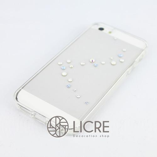 iphoneケースデコレーション - Melody20 A-Wave006スワロフスキーデコ