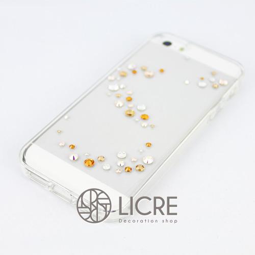 iphoneケースデコレーション - Melody50 A-Wave003スワロフスキーデコ