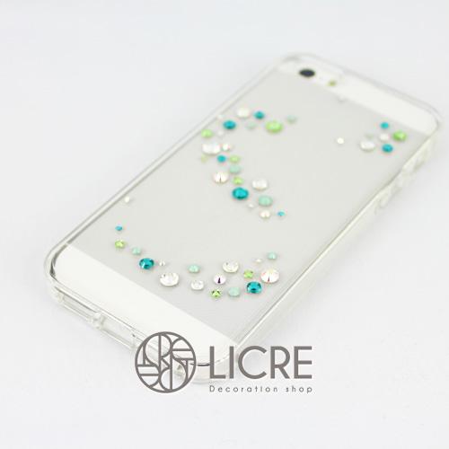 iphoneケースデコレーション - Melody50 A-Wave005スワロフスキーデコ