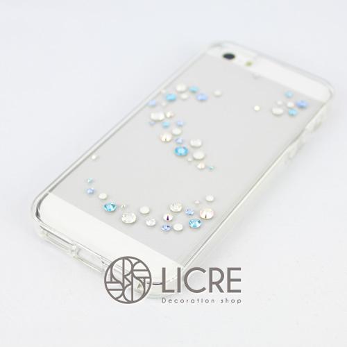 iphoneケースデコレーション - Melody50 A-Wave006スワロフスキーデコ