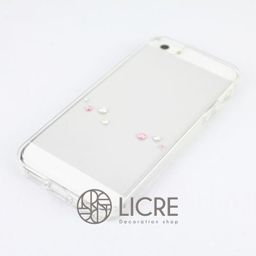 iphoneケースデコレーション - Melody7 U-Wave002スワロフスキーデコ