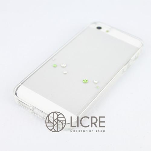 iphoneケースデコレーション - Melody7 U-Wave005スワロフスキーデコ