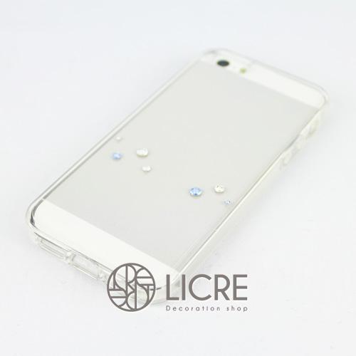 iphoneケースデコレーション - Melody7 U-Wave006スワロフスキーデコ
