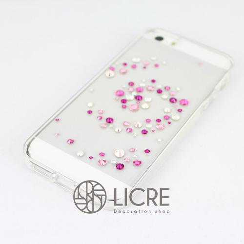 iphoneケースデコレーション - Melody80 C-Wave002スワロフスキーデコ