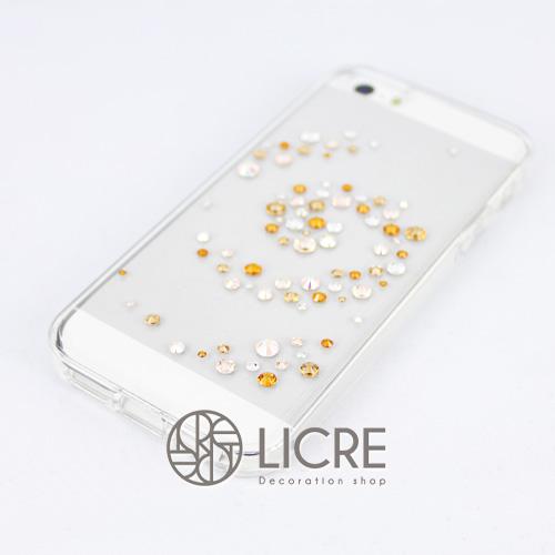 iphoneケースデコレーション - Melody80 C-Wave003スワロフスキーデコ