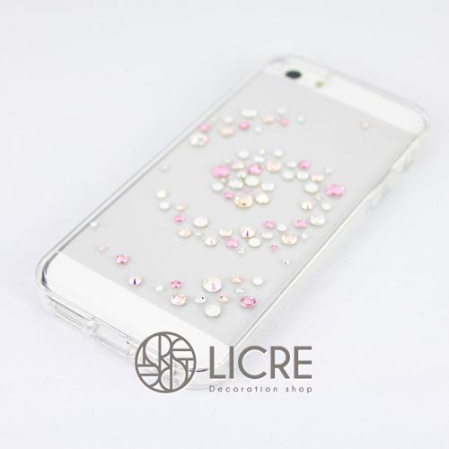 iphoneケースデコレーション - Melody80 C-Wave007スワロフスキーデコ