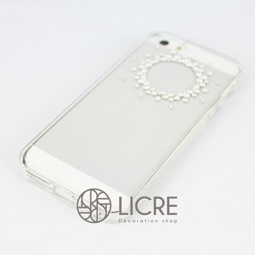iphoneケースデコレーション - Refined80 T-Circle001スワロフスキーデコ