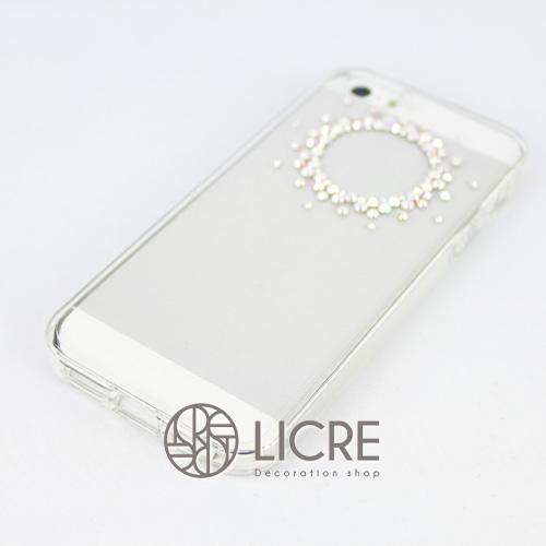 iphoneケースデコレーション - Refined80 T-Circle002スワロフスキーデコ