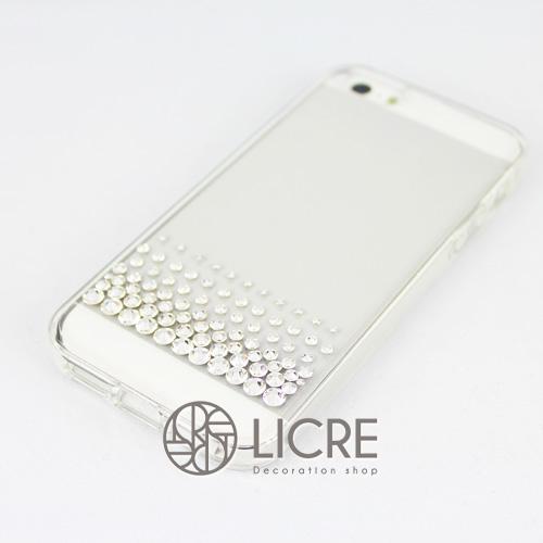 iphoneケースデコレーション - Refined80 US-line001スワロフスキーデコ