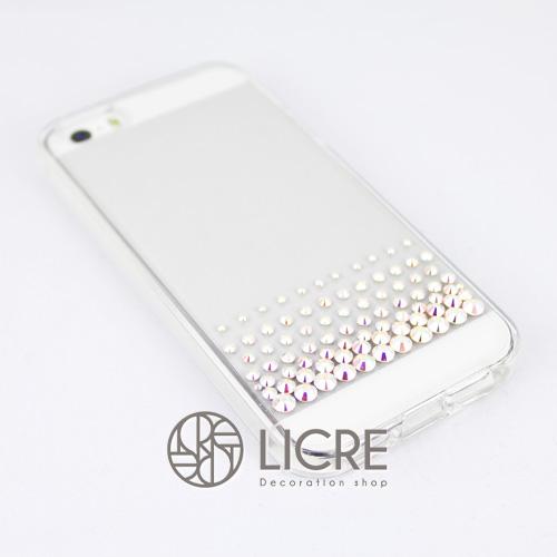 iphoneケースデコレーション - Refined80 US-line002スワロフスキーデコ
