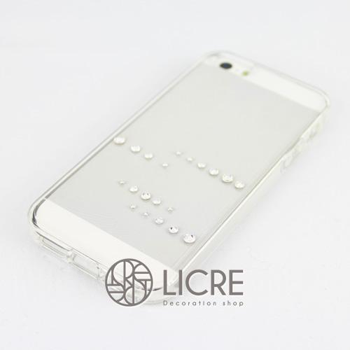 iphoneケースデコレーション - Spirits20 US-line001スワロフスキーデコ