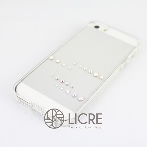 iphoneケースデコレーション - Spirits20 US-line002スワロフスキーデコ