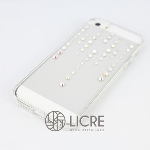 iphoneケースデコレーション - Spirits50 TH-line002スワロフスキーデコ