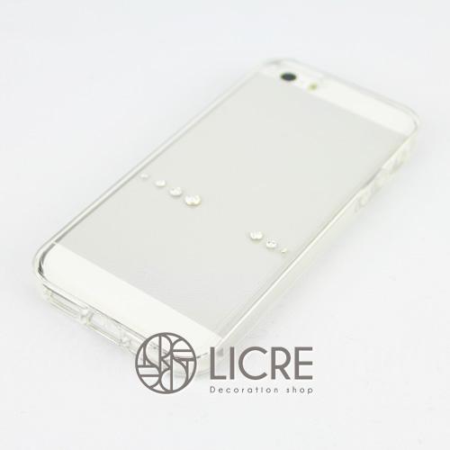 iphoneケースデコレーション - Spirits7 US-line001スワロフスキーデコ