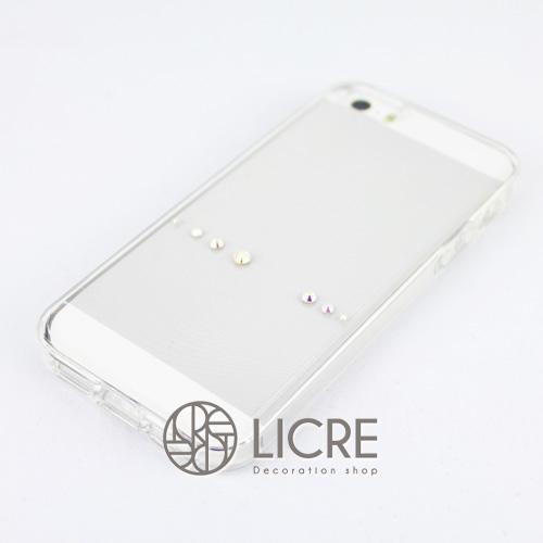 iphoneケースデコレーション - Spirits7 US-line002スワロフスキーデコ