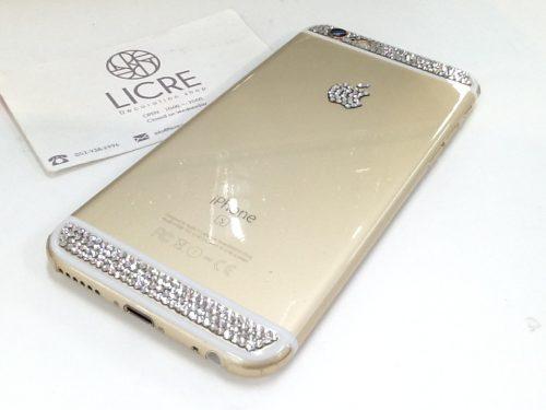iphone6Sをそのままにクリスタル1色のシンプルデコレーション