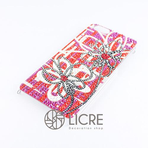 iphoneケースデコレーション - Wire flower001スワロフスキーデコ