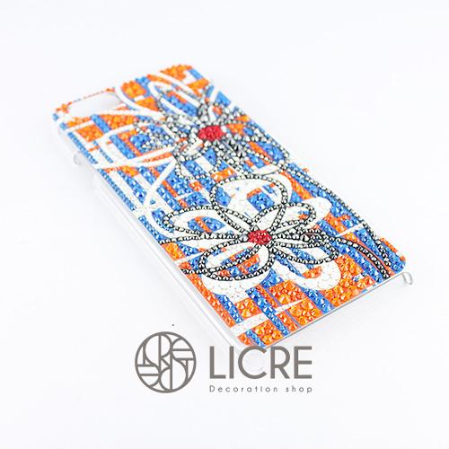 iphoneケースデコレーション - Wire flower002スワロフスキーデコ