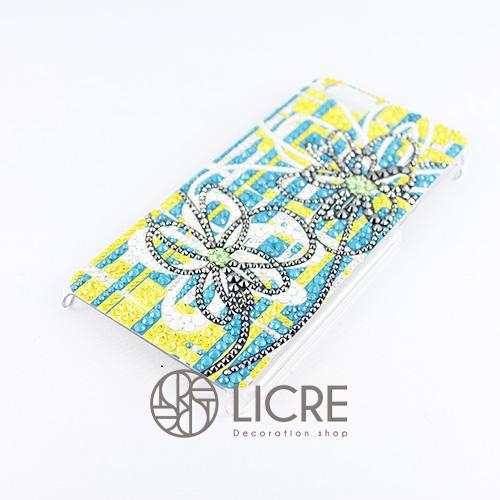 iphoneケースデコレーション - Wire flower003スワロフスキーデコ