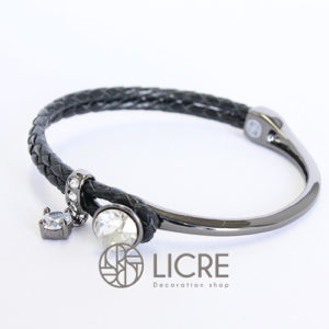 ブレスレット – round leather bracelet BK-001SSHA