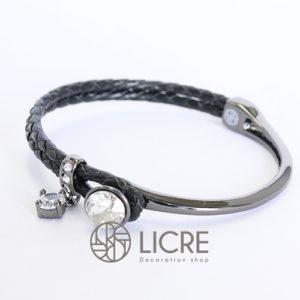 ブレスレット – round leather bracelet BK-001SSHA