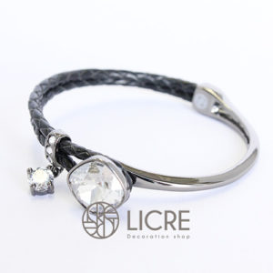 ブレスレット – square leather bracelet BK-001SSHA
