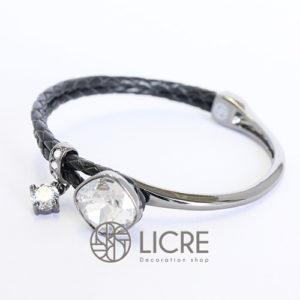 ブレスレット – square leather bracelet BK-001SSHA