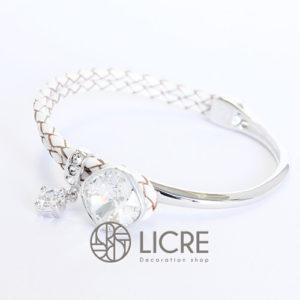 ブレスレット – square leather bracelet WH-001