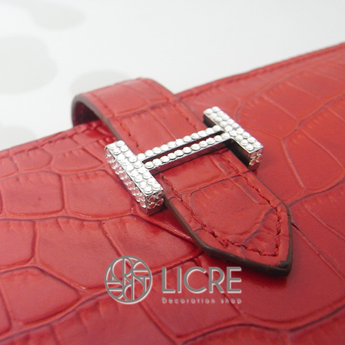 HERMES/エルメス財布のロゴを一部スワロフスキー加工