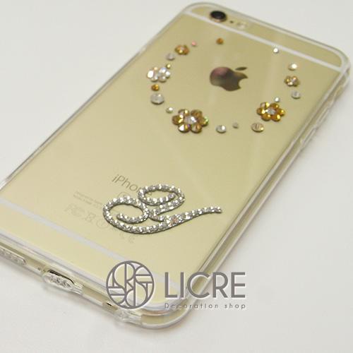 まるで可愛い花模様ネックレス?!iphone6ゴールド本体に馴染むワンポイントデコレーション