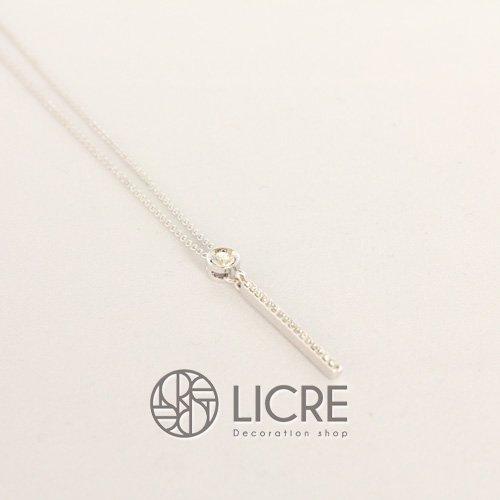 スワロフスキーネックレス - round straight necklace SV-001
