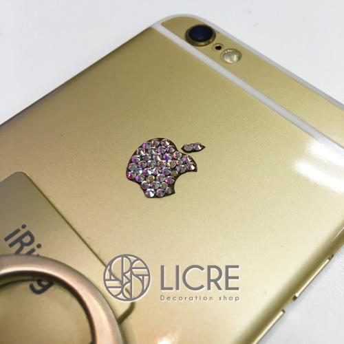 iphone6s appleマークへスワロフスキーデコレーション