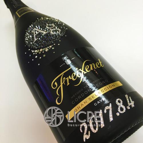 シャンパンボトルスワロフスキーデコレーション