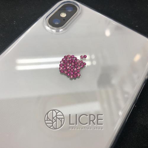 iphoneX アップルマークスワロフスキーデコレーション