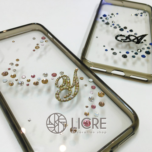 iphoneスワロフスキーデコレーションケース