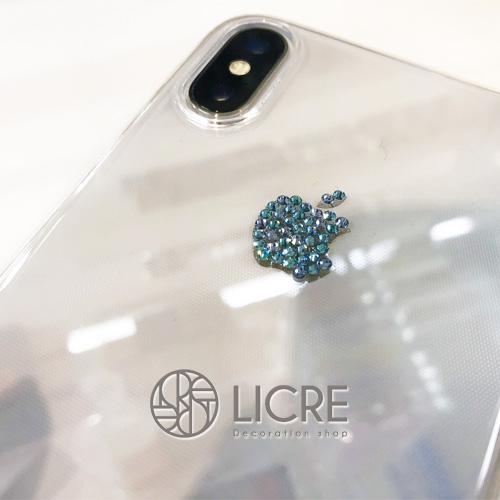 iphoneXのアップルマークをシンプルにデコレーション
