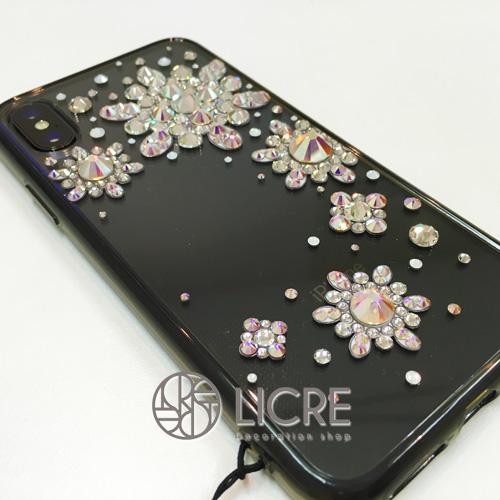 iphoneXスワロフスキーデコレーションケース