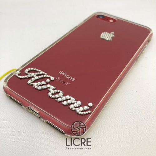 iphone8の赤を活かしたシンプルデコレーション