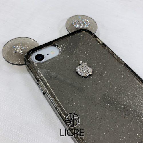 iphone8アップルマークを極小サイズのスワロフスキークリスタルでデコレーション