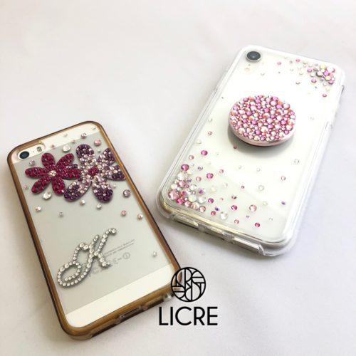 iphoneデコレーションフラワーデザイン